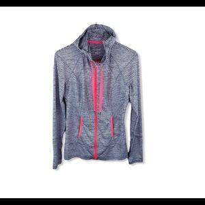 Lukka Hooded Striped Zip Up Active Jacket